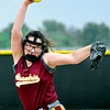 John P. Cleary | The Herald Bulletin<br /> Alexandria's pitcher Alexis Bean pitched a complete game against Monroe Central for a 9-2 sectional win.