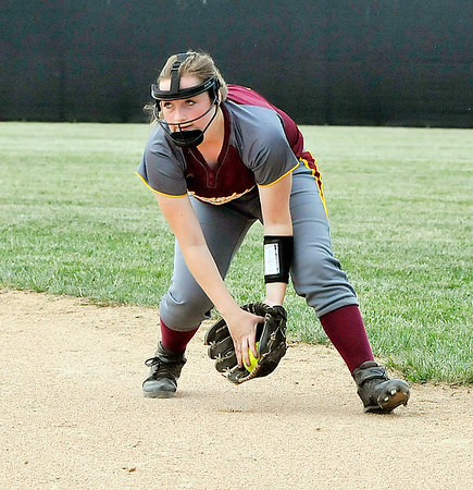 John P. Cleary   The Herald Bulletin<br /> Alexandria vs Monroe Central in the Lapel 2A softball sectional.