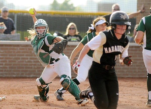 Don Knight   The Herald Bulletin<br /> Pendleton Heights faced Mt. Vernon in the sectional championship on Thursday.