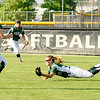 Don Knight | The Herald Bulletin<br /> Pendleton Heights' Mickala Winans makes a diving catch in the outfield as the Arabians faced Mt. Vernon in the sectional championship on Thursday.