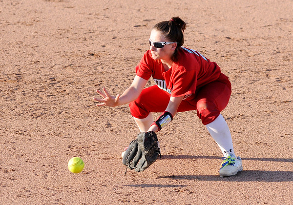 Don Knight   The Herald Bulletin<br /> Pendleton Heights hosted Anderson in the softball sectional final on Thursday.