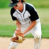 John P. Cleary | The Herald Bulletin<br /> The ball bounces off Lapel's Noah Clarks glove for an infield hit.