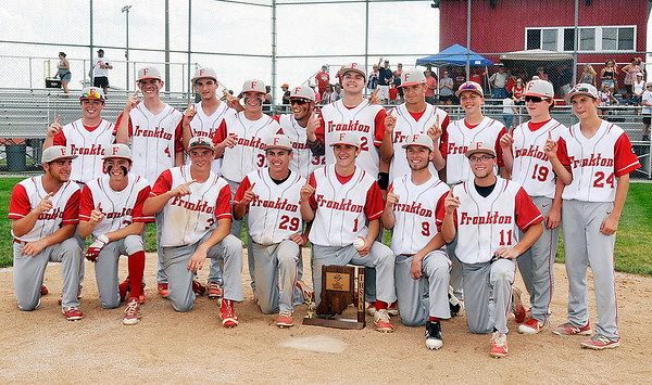 John P. Cleary   The Herald Bulletin<br /> The Frankton Eagles are the 2018 2A baseball sectional #40 champions.