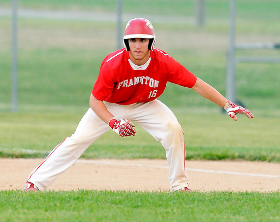John P. Cleary    The Herald Bulletin<br /> 2A sectional baseball finals between Frankton and Wapahani.