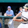 Don Knight | The Herald Bulletin<br /> Daleville's Elliott Jackson connects for a lead off double as the Broncos faced Blackhawk Christian in the semistate at Plymouth on Saturday. Jackson would be batted in by Gavin Whitmore giving the Broncos a 2-1 lead.