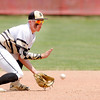 Don Knight | The Herald Bulletin<br /> Daleville's TJ Price fields the ball as the Broncos beat Blackhawk Christian in the semistate at Plymouth on Saturday.