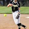Madison-Grant's pitcher Elizabeth Lee lets go with a pitch, tossing a complete game in a loosing cause against Frankton.