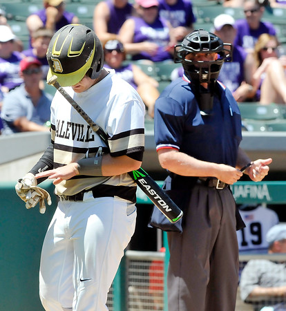John P. Cleary   The Herald Bulletin<br /> Daleville vs Lanesville in Class A State Championship baseball game.