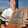 John P. Cleary   The Herald Bulletin<br /> Daleville's Brandon Vermillion was named the mental attitude award winner in boys baseball class A.