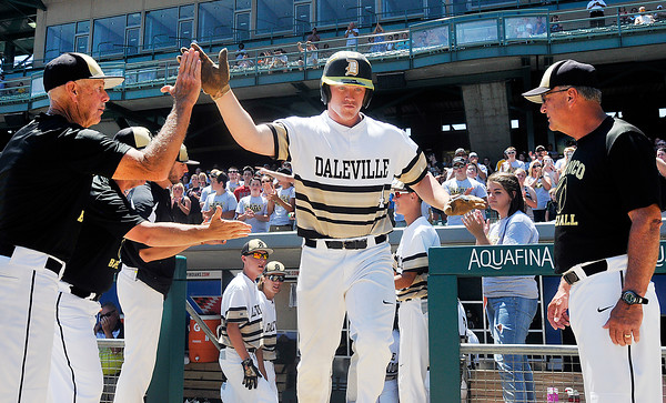 John P. Cleary | The Herald Bulletin<br /> Daleville vs Lanesville in Class A State Championship baseball game.