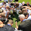 John P. Cleary | The Herald Bulletin<br /> After all the celebration was over the Daleville team gathered for a word of prayer to end their championship day.