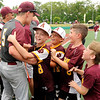 Don Knight | The Herald Bulletin<br /> The Alexandria tigers celebrate with their fans after beating Whiting 9-0 in the semistate at Kokomo on Saturday.