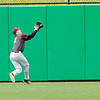 Don Knight | The Herald Bulletin<br /> Alexandria's Miller Abernathy catches a fly ball in the outfield as the Tigers faced Whiting in the semistate at Kokomo on Saturday.