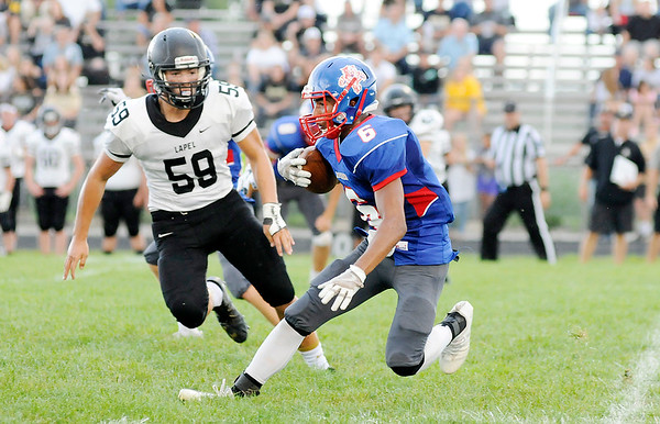 Don Knight | The Herald Bulletin<br /> Elwood hosted Lapel on Friday.
