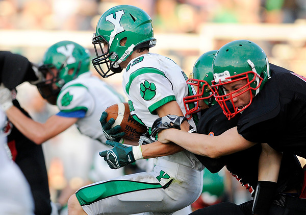 Don Knight | The Herald Bulletin<br /> Anderson opened their season against Yorktown at home on Friday.