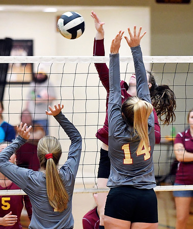 John P. Cleary | The Herald Bulletin Liberty Christian vs Alexandria in volleyball.
