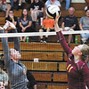 John P. Cleary | The Herald Bulletin<br /> Liberty Christian's Mady Rees tries to block Alexandria's Olivia Hall's shot.