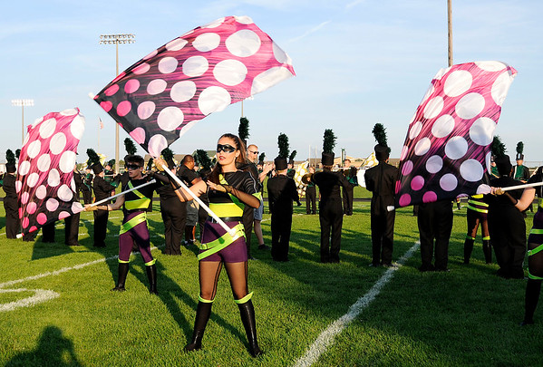 Don Knight | The Herald Bulletin<br /> The Pendleton Heights band performs before kickoff as the Arabians hosted Mississinewa on Friday.