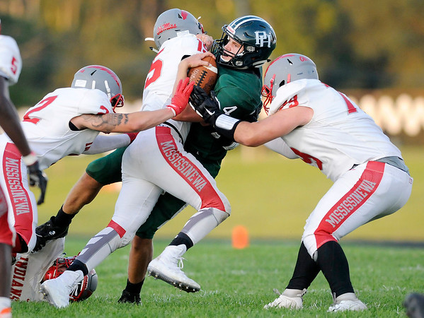 Don Knight | The Herald Bulletin<br /> Pendleton Heights hosted Mississinewa on Friday.