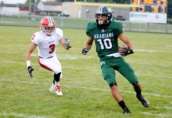 Don Knight   The Herald Bulletin<br /> Pendleton Heights hosted Anderson on Friday.