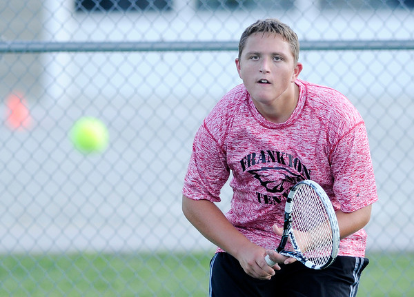 Don Knight | The Herald Bulletin<br /> Lapel hosted Frankton in the first round of the Madison County Tennis Tournament on Thursday.