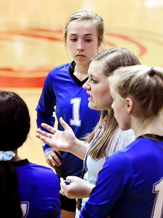 John P. Cleary | The Herald Bulletin<br /> Anderson Prep vs Liberty Christian in volleyball.