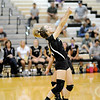 Don Knight | The Herald Bulletin<br /> Lapel's Taylor Murdock sends the ball over the net as the Bulldogs hosted the Pendleton Heights Arabians on Tuesday.