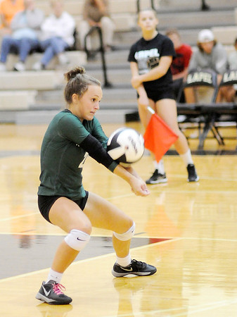 Don Knight | The Herald Bulletin<br /> Pendleton Heights' Ally Hall passes the ball as the Arabians faced the Lapel Bulldogs on Tuesday.