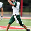 John P. Cleary | The Herald Bulletin<br /> Pendleton Heights Kirby Hess prepare to throws as he rolls out of the pocket.