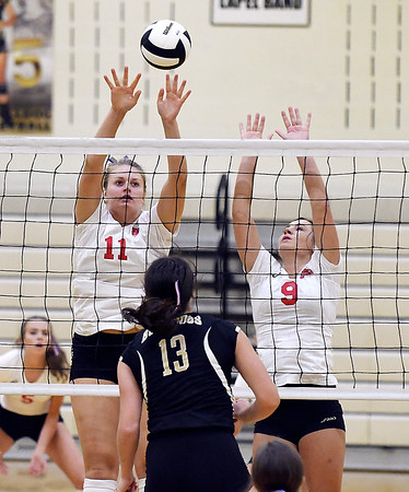 John P. Cleary   The Herald Bulletin<br /> Frankton vs Lapel in volleyball.