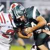 Don Knight | The Herald Bulletin<br /> Pendleton Heights running back Payton Huth carries the ball as the Arabians hosted New Palestine on Friday.