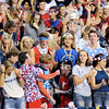 Don Knight | The Herald Bulletin<br /> Pendleton Heights student section had a USA theme for Friday's home game against New Palestine on Friday.