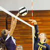 Don Knight | The Herald Bulletin<br /> Shenandoah's Kamryn Buck sends the ball over the net as the Raiders hosted Hagerstown on Thursday.