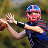 John P. Cleary | The Herald Bulletin<br /> Chance Martin, Elwood's quarterback, targets his receiver as he prepares to throw.