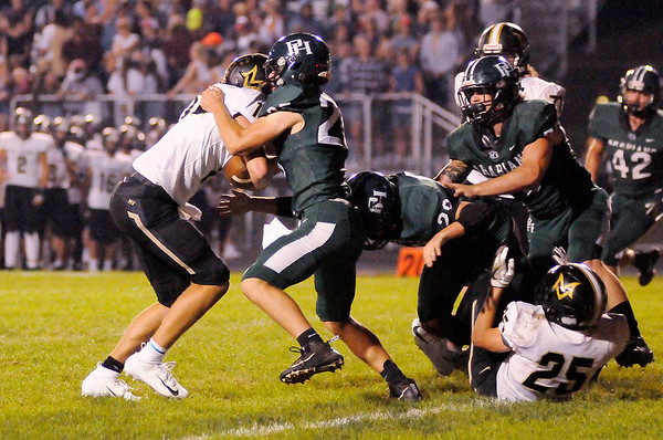 Don Knight   The Herald Bulletin<br /> Pendleton Heights hosted Mt. Vernon on Friday.