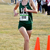Pendleton Heights Katie Jones crosses the finish line first in the Madison County Cross Country meet Tuesday.