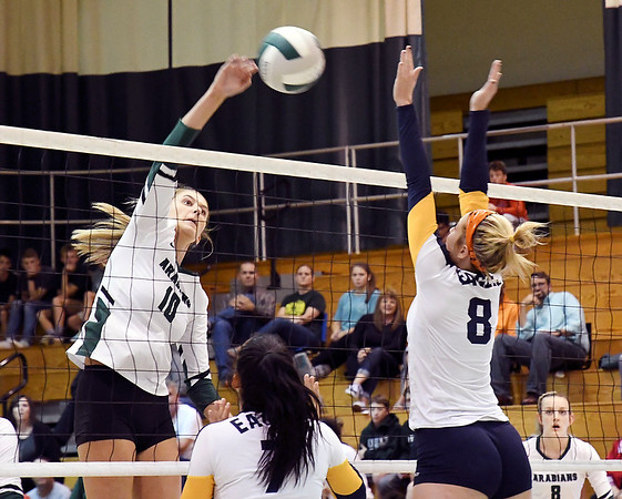 John P. Cleary   The Herald Bulletin<br /> Delta vs Pendleton Heights in volleyball.