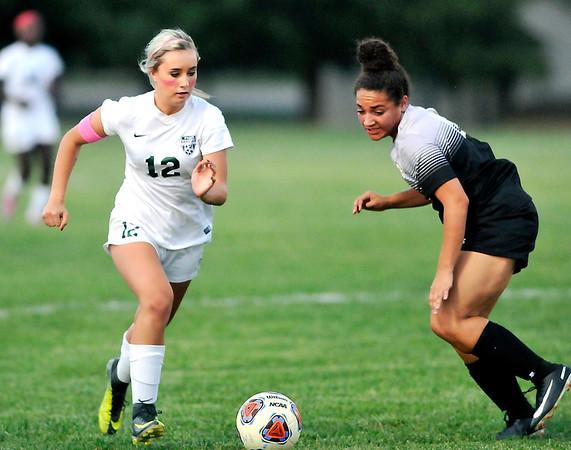 John P. Cleary |  The Herald Bulletin<br /> Mount Vernon vs Pendleton Hts in girls soccer.