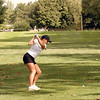 Rosemary Likens tees off on hole number 11 at the girls' regional.