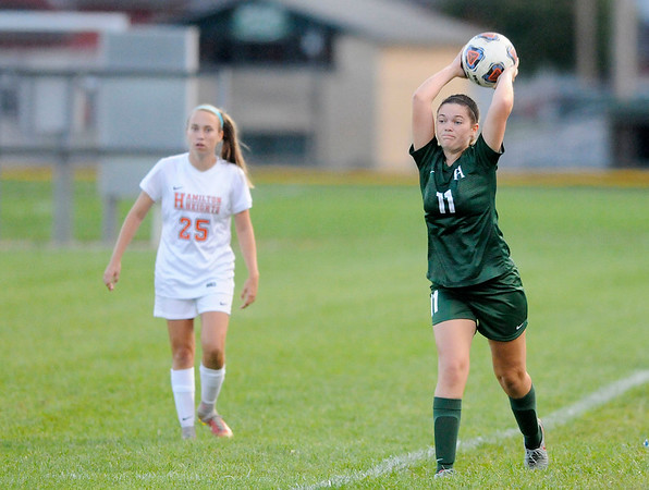 Don Knight   The Herald Bulletin<br /> Pendleton Heights hosted Hamilton Heights on Wednesday.