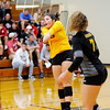 Don Knight | The Herald Bulletin<br /> Alexandria's Morgan Moore passes the ball as the Tigers hosted the Frankton Eagles on Tuesday.