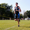 Don Knight | The Herald Bulletin<br /> APA's Michael Taylor leads the City cross country meet at Davis Park on Tuesday. Taylor finished first in 17 minutes, 39 seconds.
