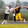 Don Knight | The Herald Bulletin<br /> Shenandoah's Hayden Lohrey breaks up a pass to Lapel's Justin Engle on Friday.