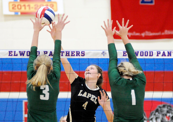 Don Knight   The Herald Bulletin<br /> Pendleton Heights faced Lapel in the county championship at Elwood on Saturday.