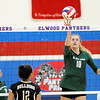 Don Knight   The Herald Bulletin<br /> Pendleton Heights' Gracie King sends the ball over the net as the Arabians faced the Lapel Bulldogs in the county championship at Elwood on Saturday.
