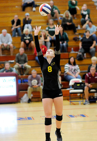 Don Knight | The Herald Bulletin<br /> Madison County Volleyball championship at Elwood on Saturday.