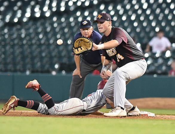 John P. Cleary | The Herald Bulletin<br /> The Alexandria Tigers vs Southridge Raiders in IHSAA 2A Baseball State Championship.