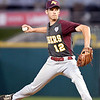 John P. Cleary | The Herald Bulletin<br /> Alexandria Tiger pitcher Brennan Morehead threw a complete game in their 4-3 win for the 2A Baseball State Championship.