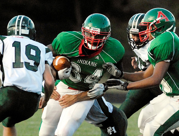 Anderson's Bryant White cuts through defenders.
