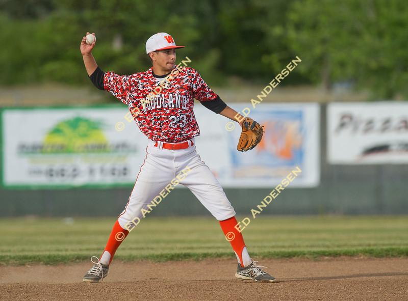 Pioneer High School vs. Woodland High School; Varsity Baseball action at Pioneer High, Woodland, CA